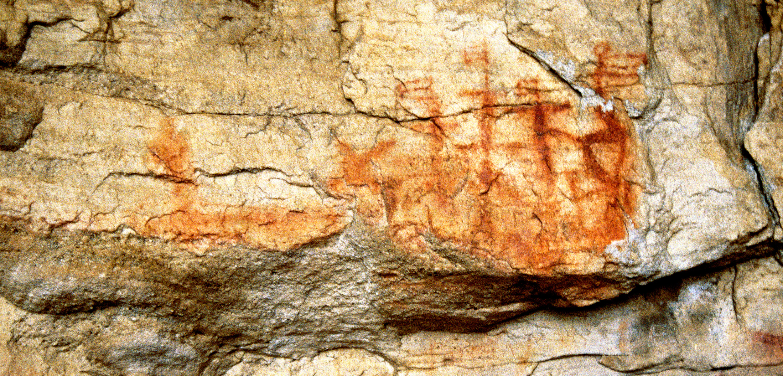 This painting, known as the Porterville Galleon, is believed to be a rare indigenous record of colonial activity in South Africa. Photo courtesy of the Trust for African Rock Art