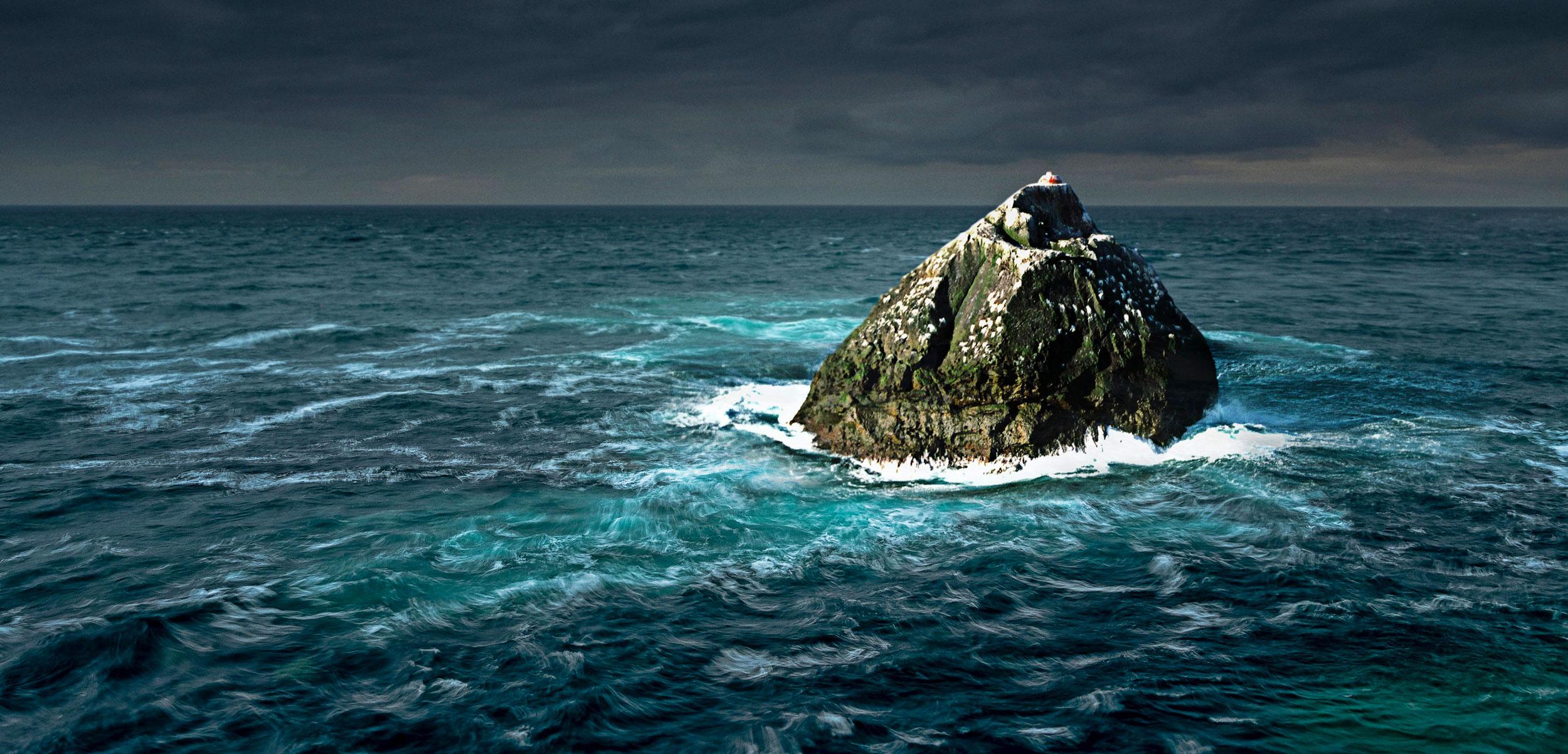rockall, Atlantic ocean