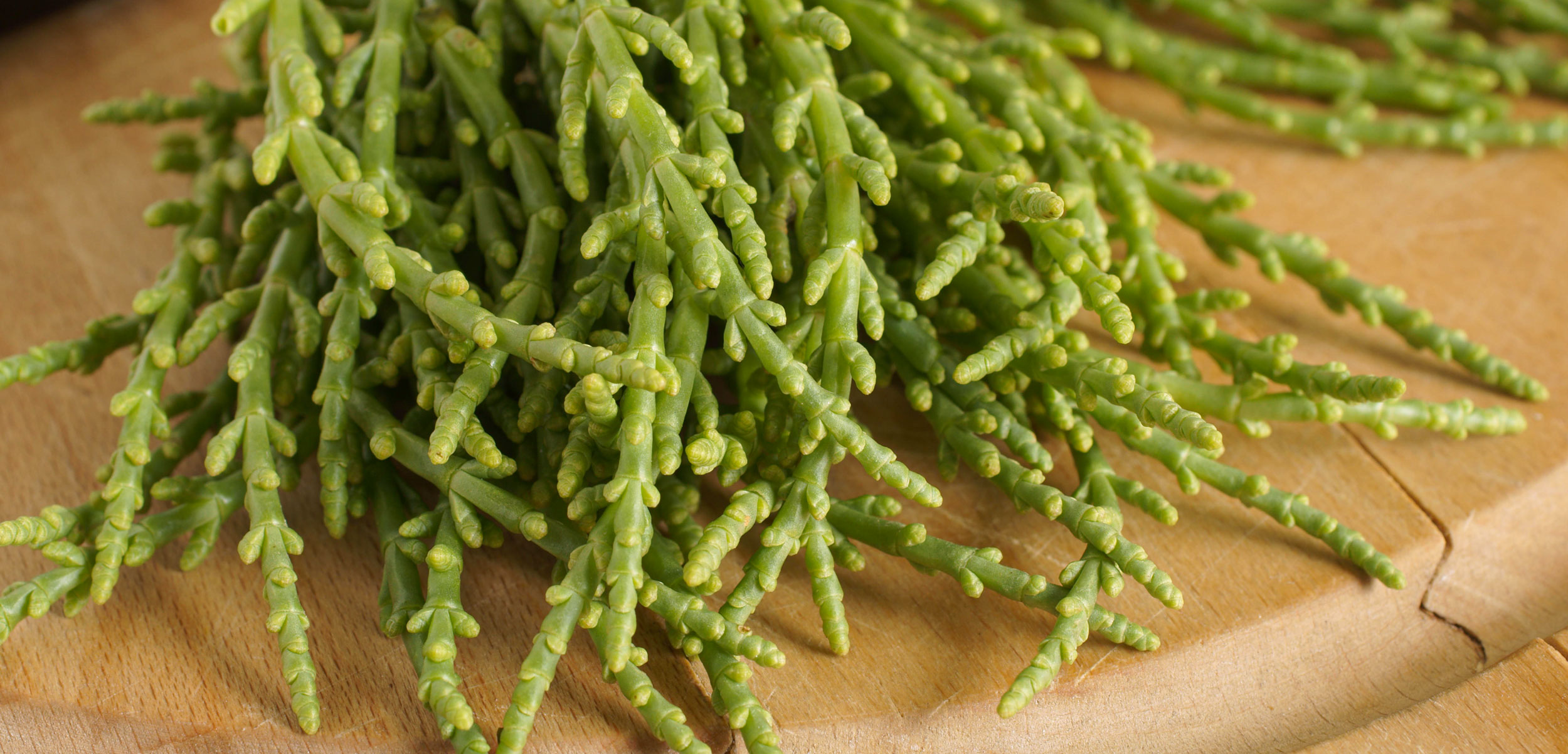 sea beans on a cutting board