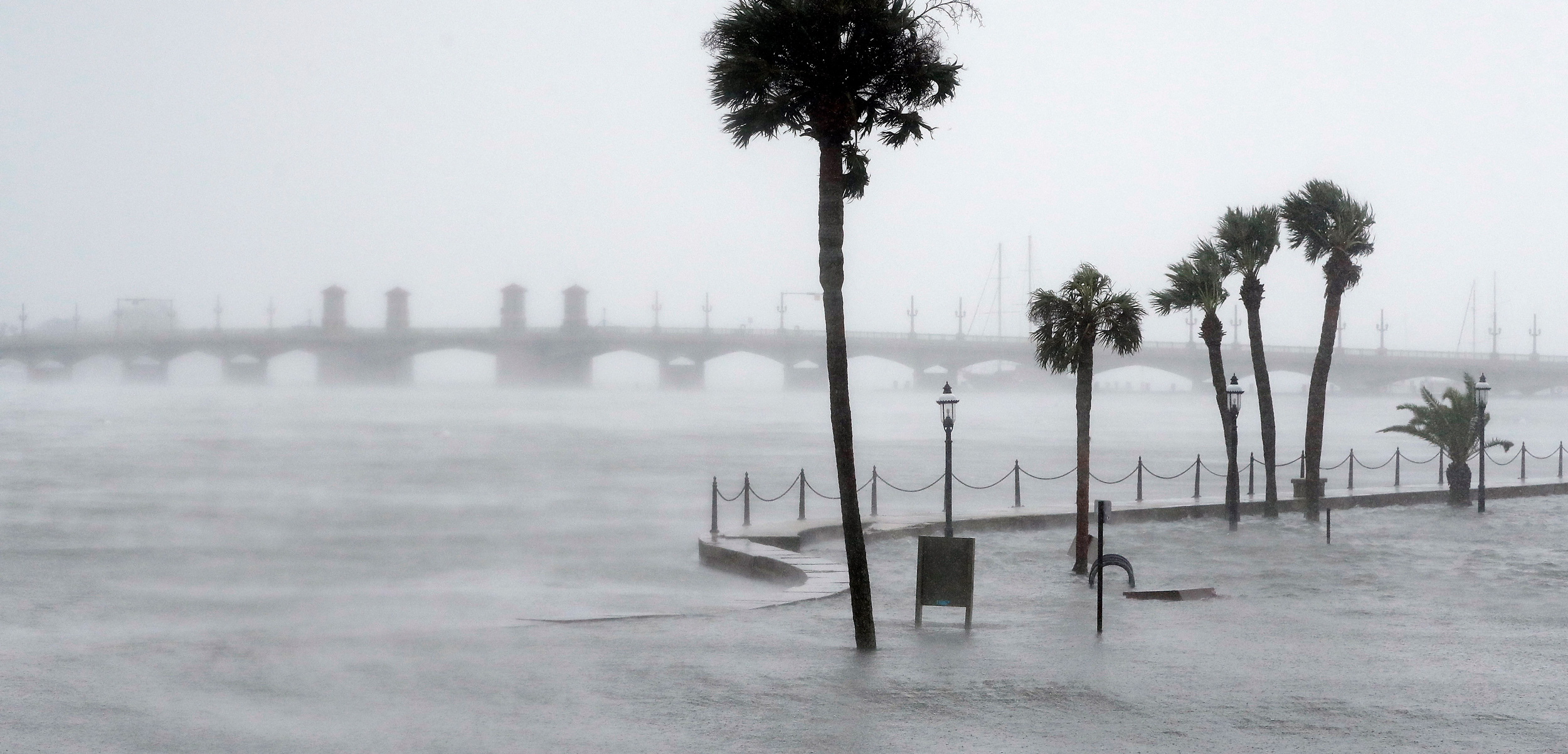 St. Augustine, Florida during Hurricane Matthew