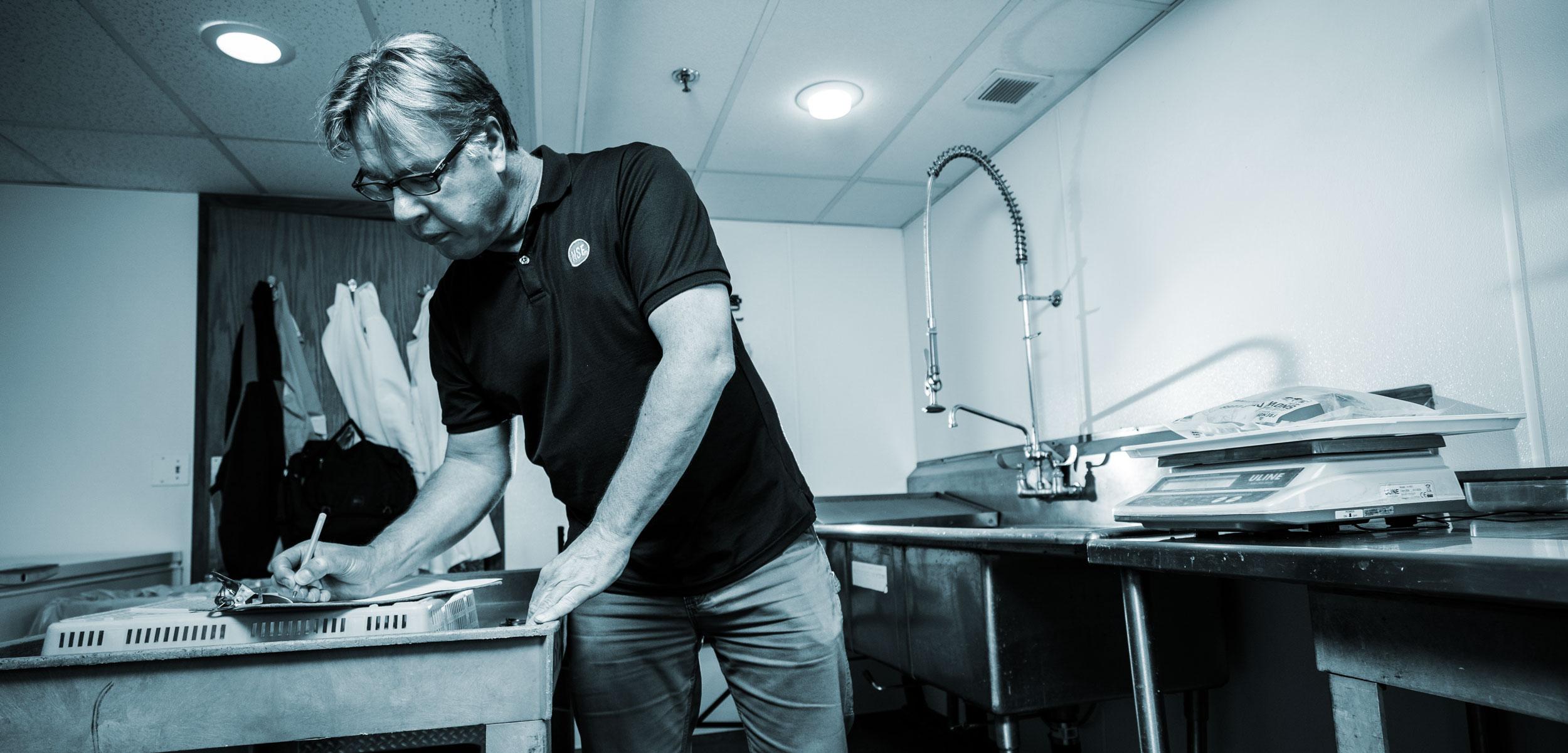 Seafood inspector Scott Albrecht