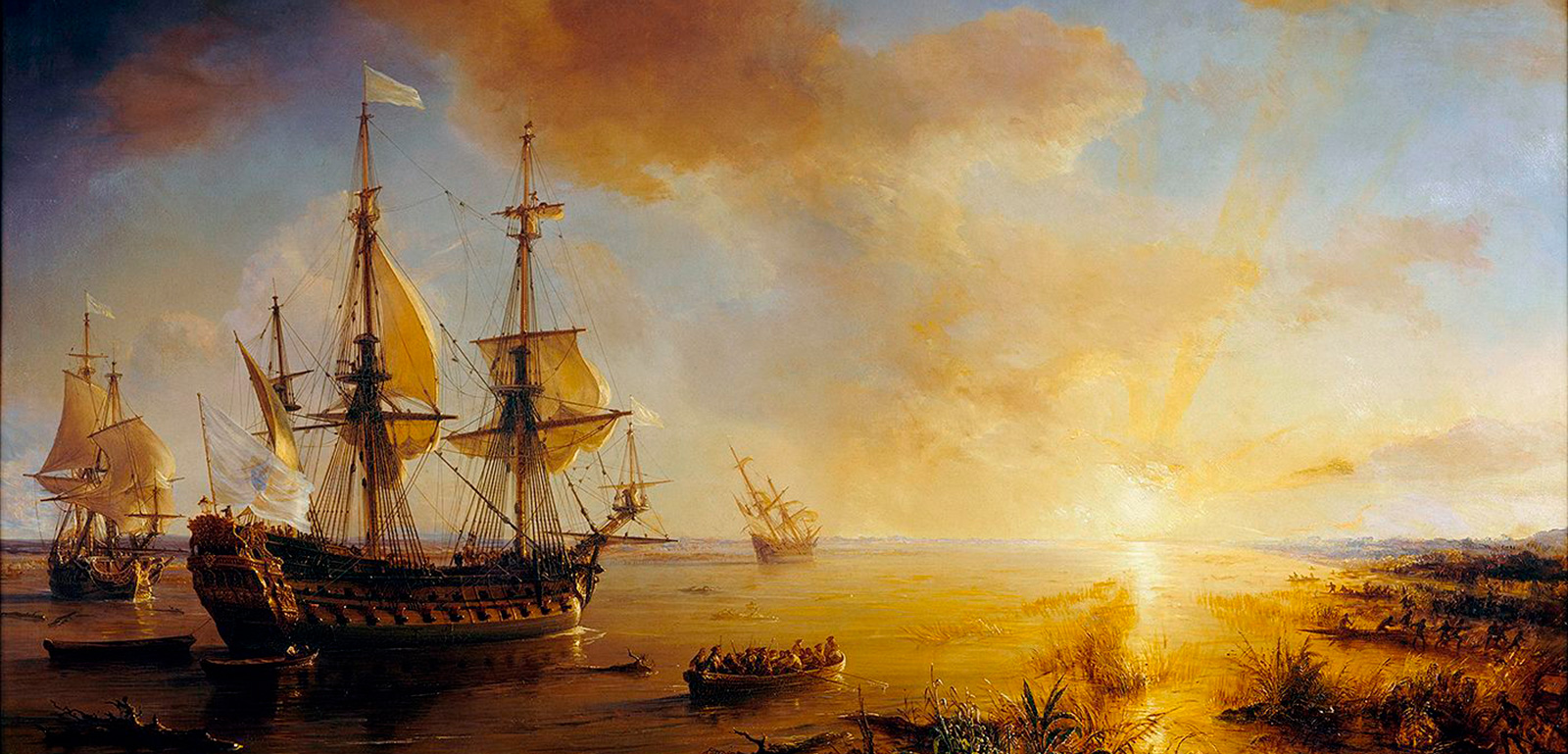 La Salle's Expedition to Louisiana in 1684, painted in 1844 by Jean Antoine Théodore de Gudin