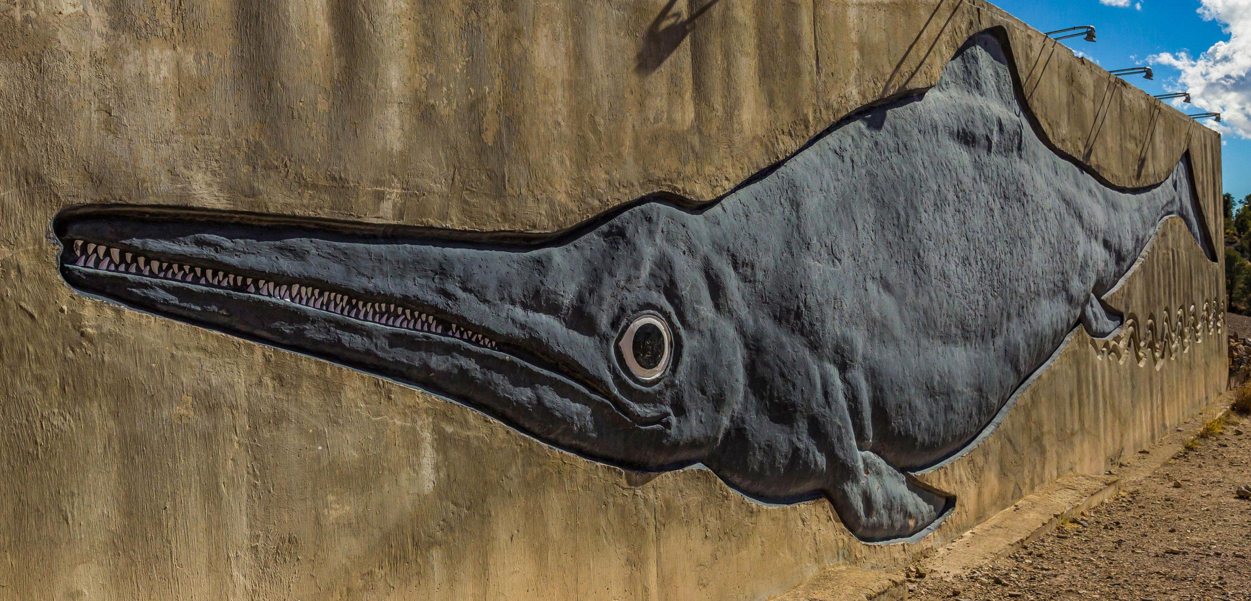 mural of Shonisaurus popularis