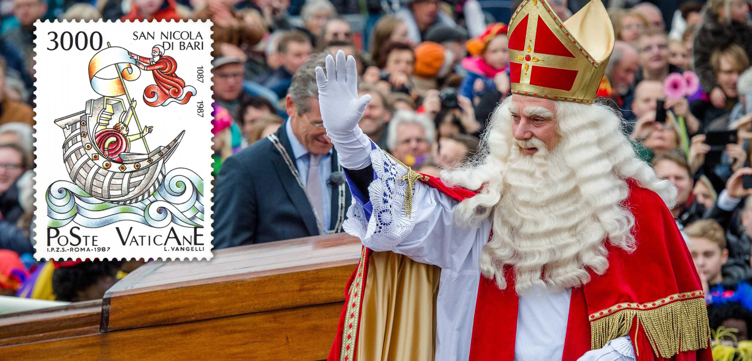 St. Nicholas has a little-known coastal connection: he has been the patron saint of sailors for centuries. Background photo by epa european pressphoto agency b.v./Alamy Stock Photo