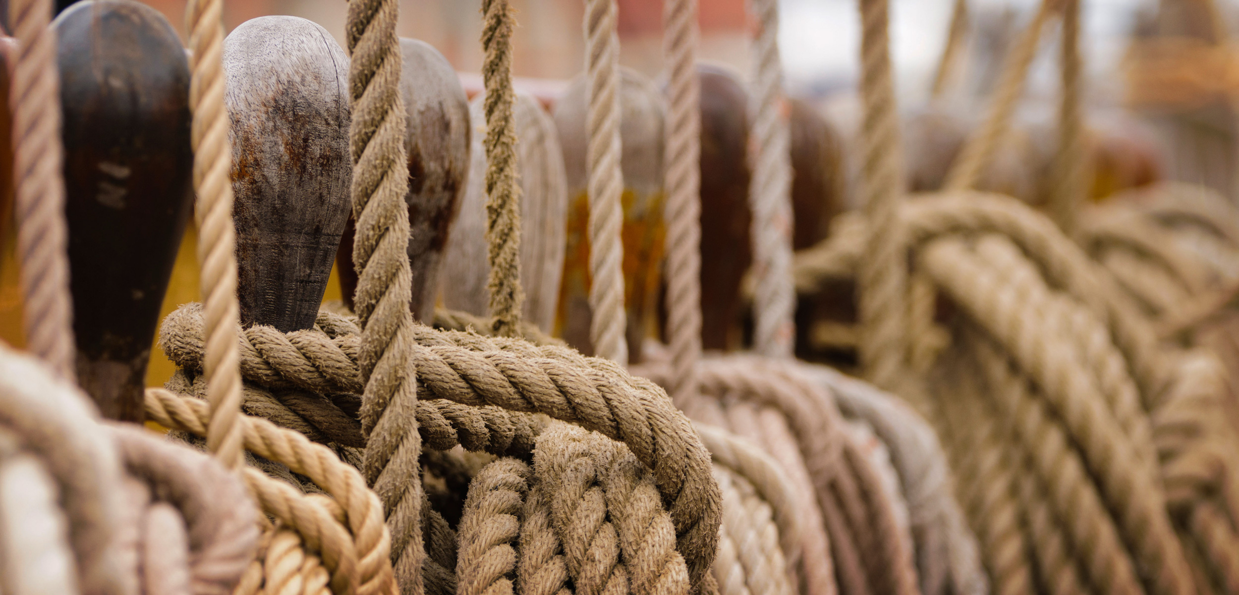 ropes on a tall ship