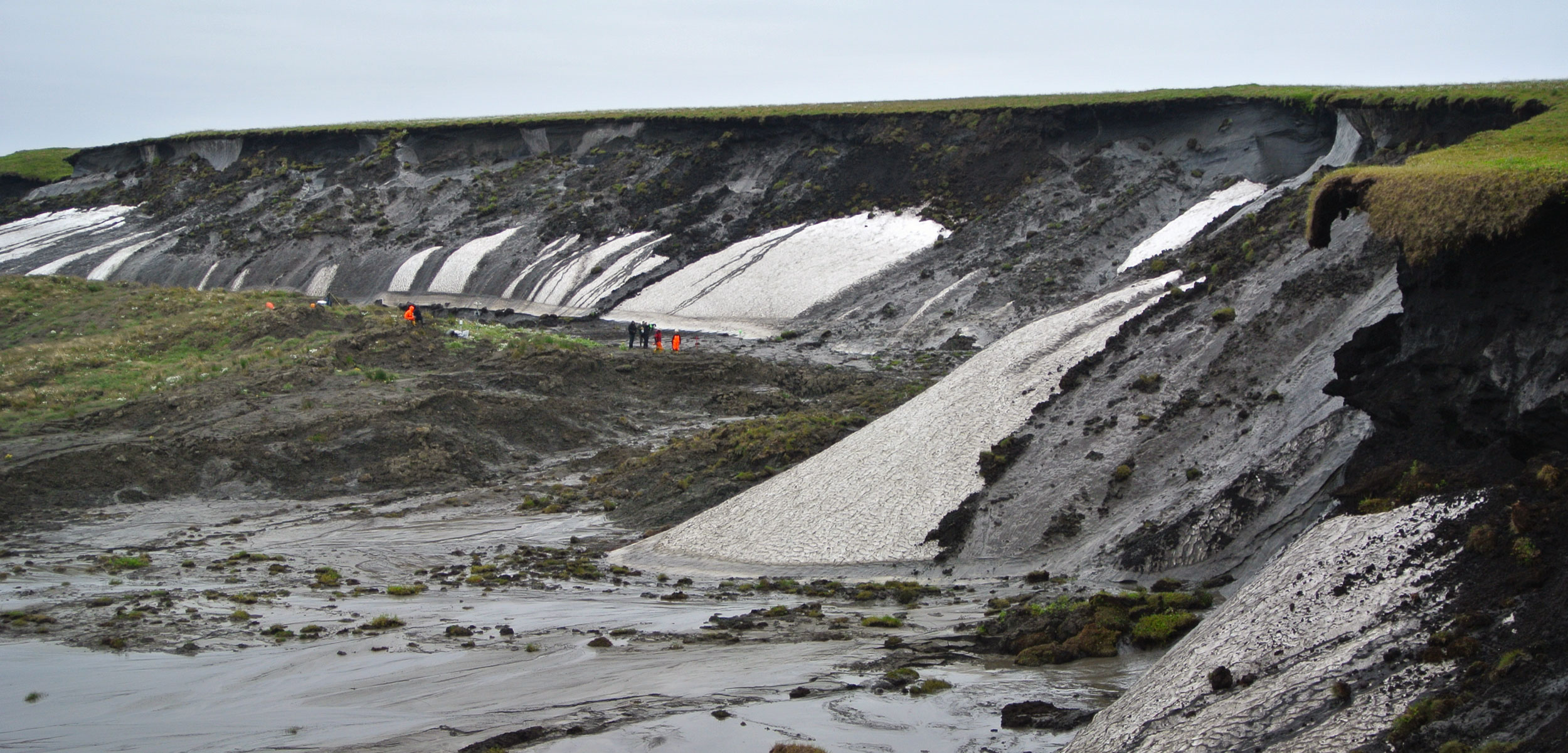 permafrost thaw slump on the Beaufort Sea