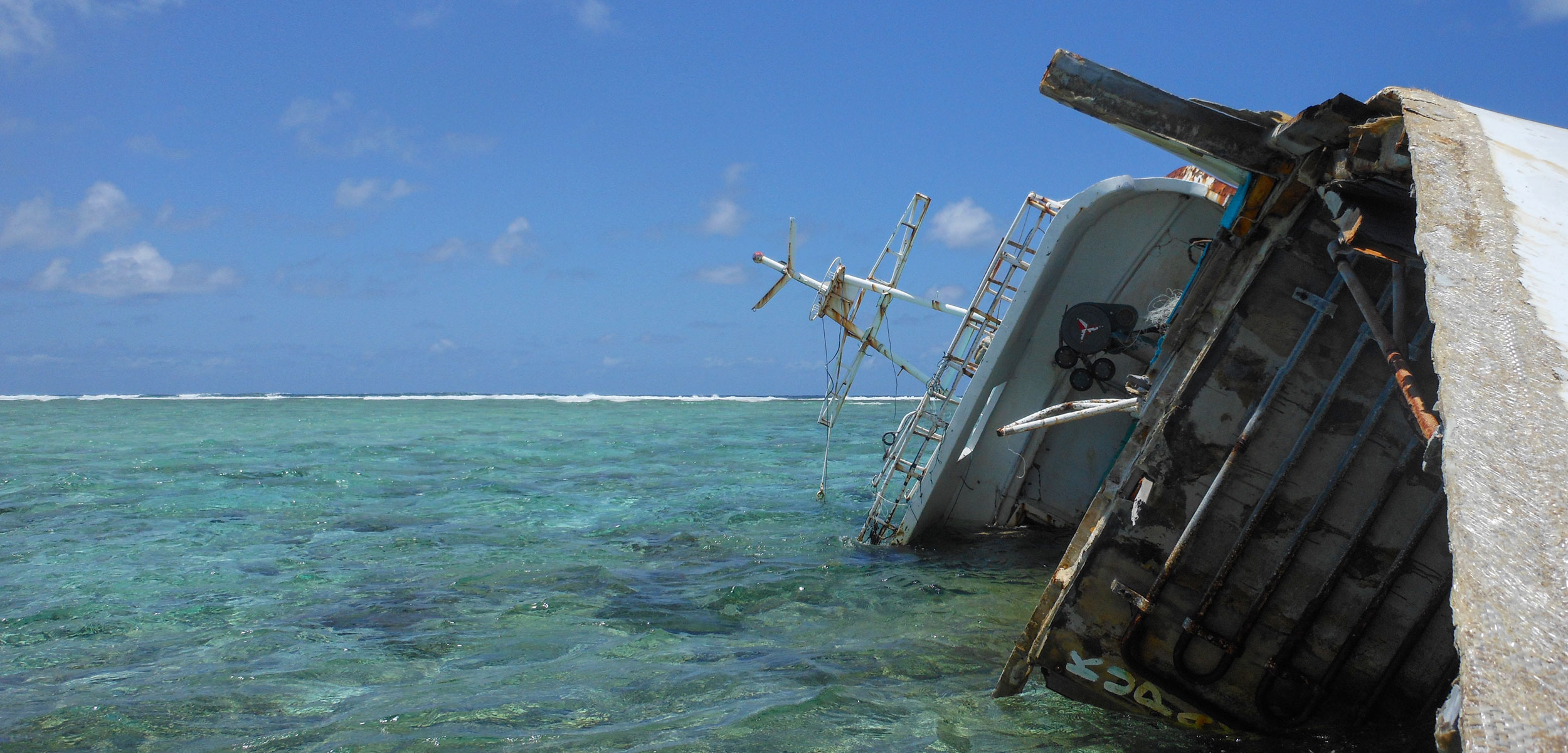 shipwreck on atoll in Saint Brandon
