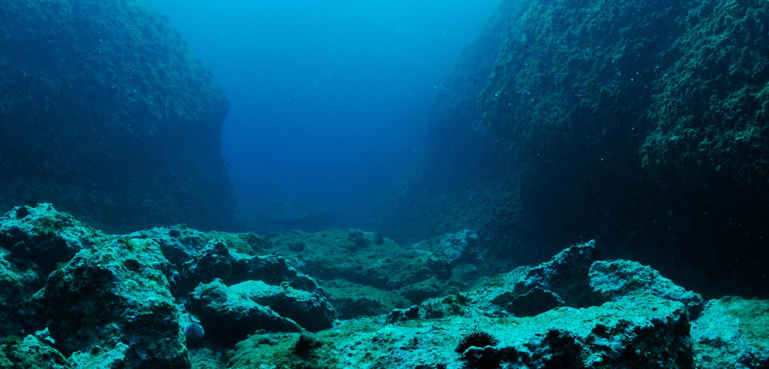 Rocks on ocean floor