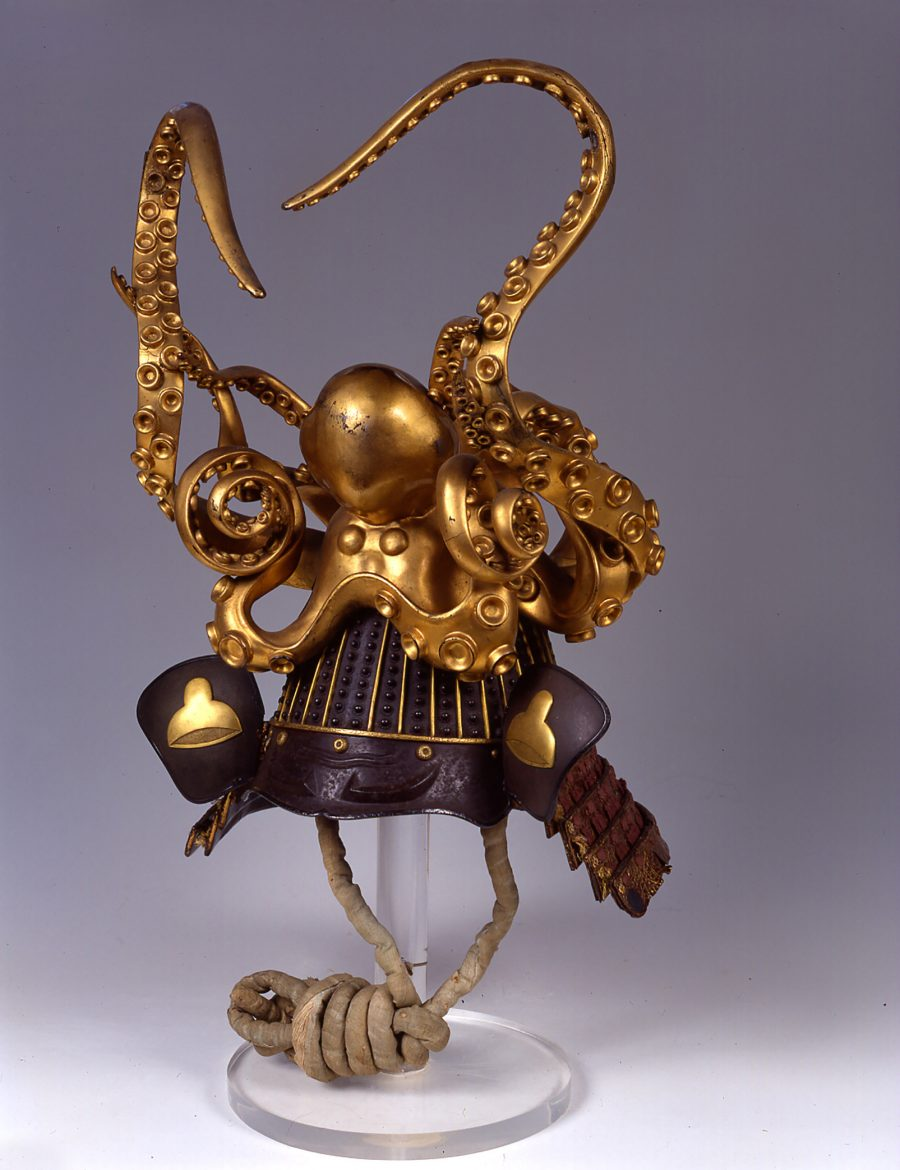 samurai helmet with octopus decoration
