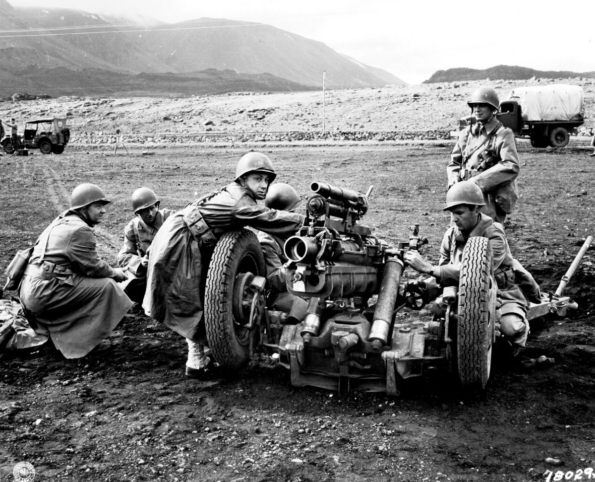 American soldiers training in Allied-occupied Iceland in June 1943