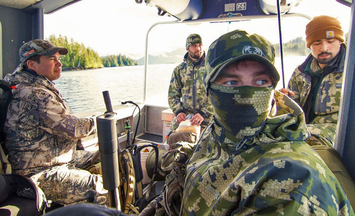 hunting team on a boat