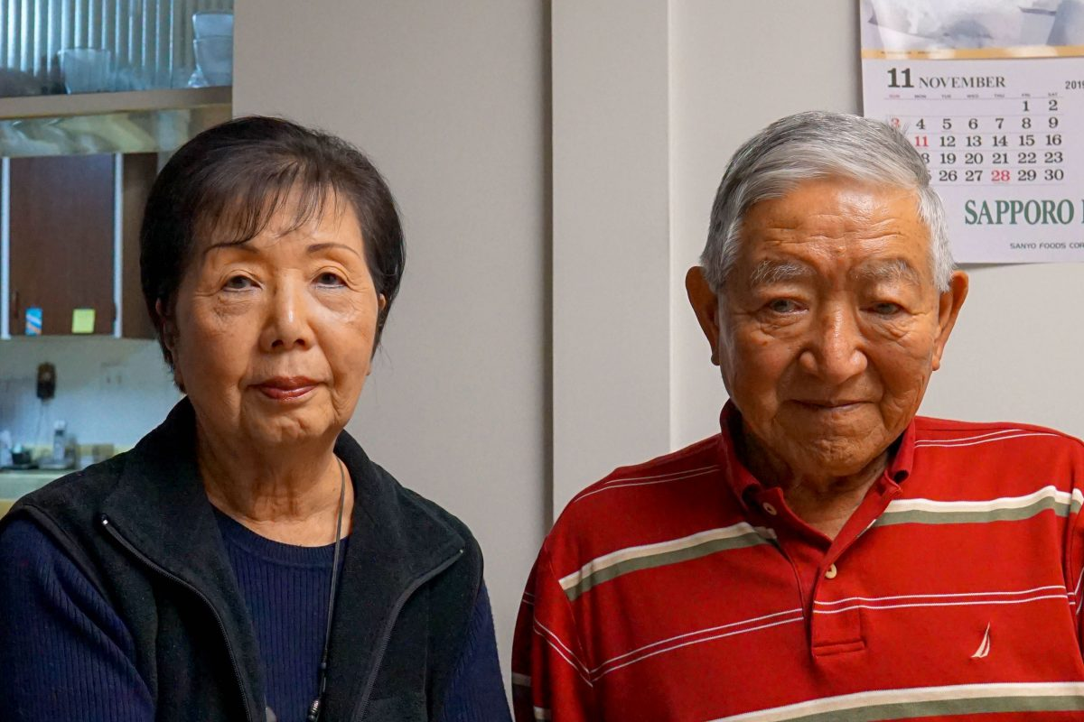 June Hamada and Satoshi photographed in their home in Richmond, British Columbia, in 2019. Photo by Braela Kwan