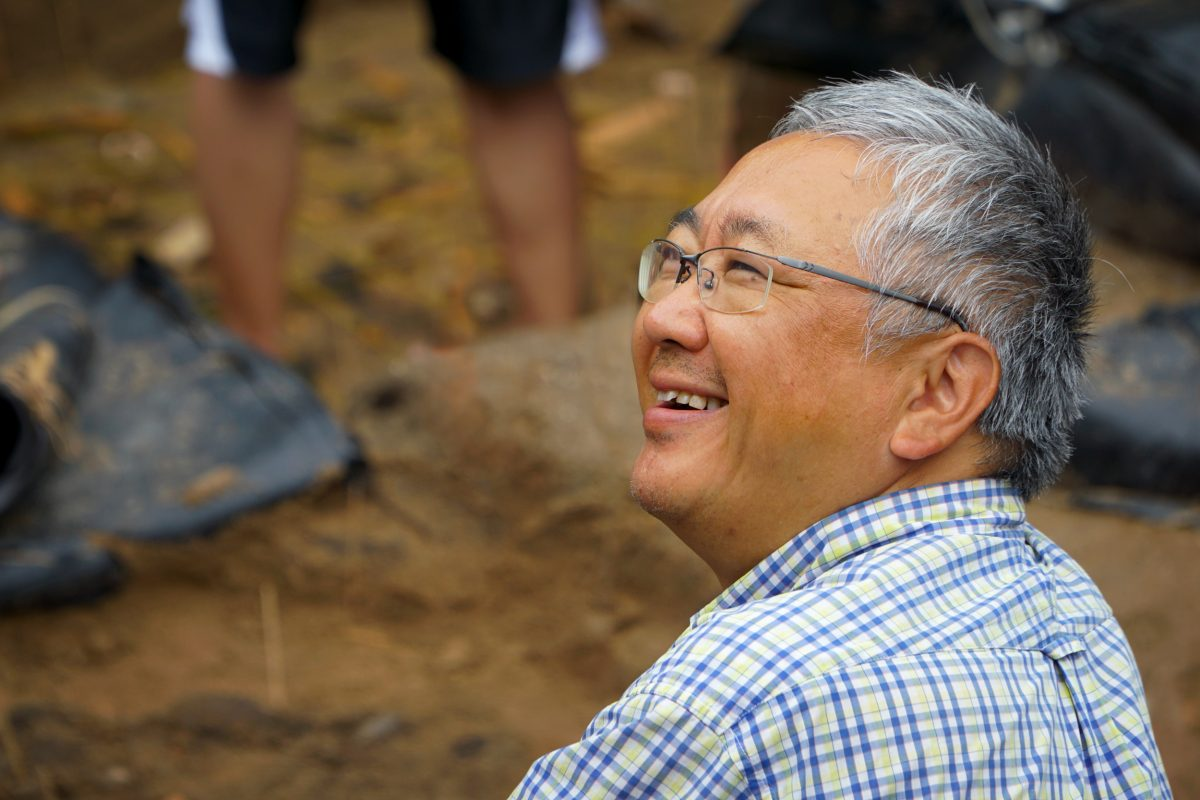 Hirofumi Kato, an archaeologist with Hokkaido University's Center for Ainu and Indigenous Studies in Sapporo, began the Hamanaka II dig in 2011. Photo by Jude Isabella