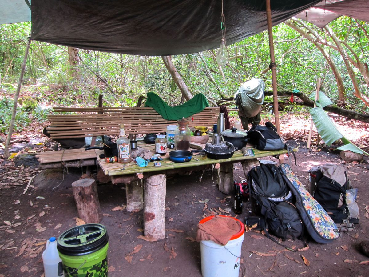 a squatter's residence in the Kalalau Valley