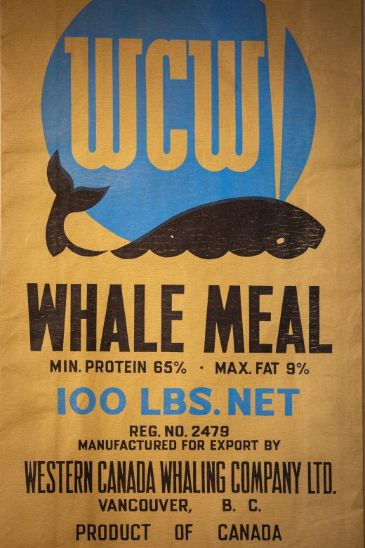 whale meal label