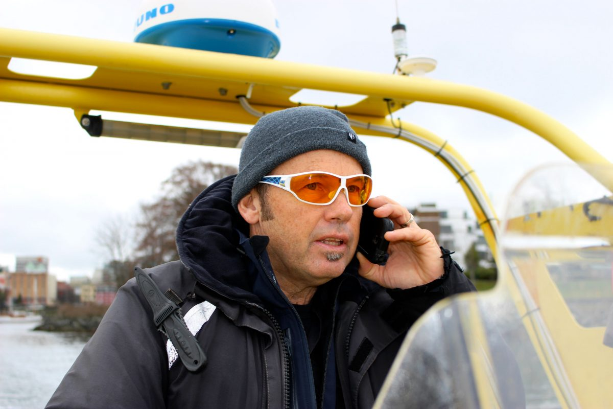 Whale watching guide Mark Malleson