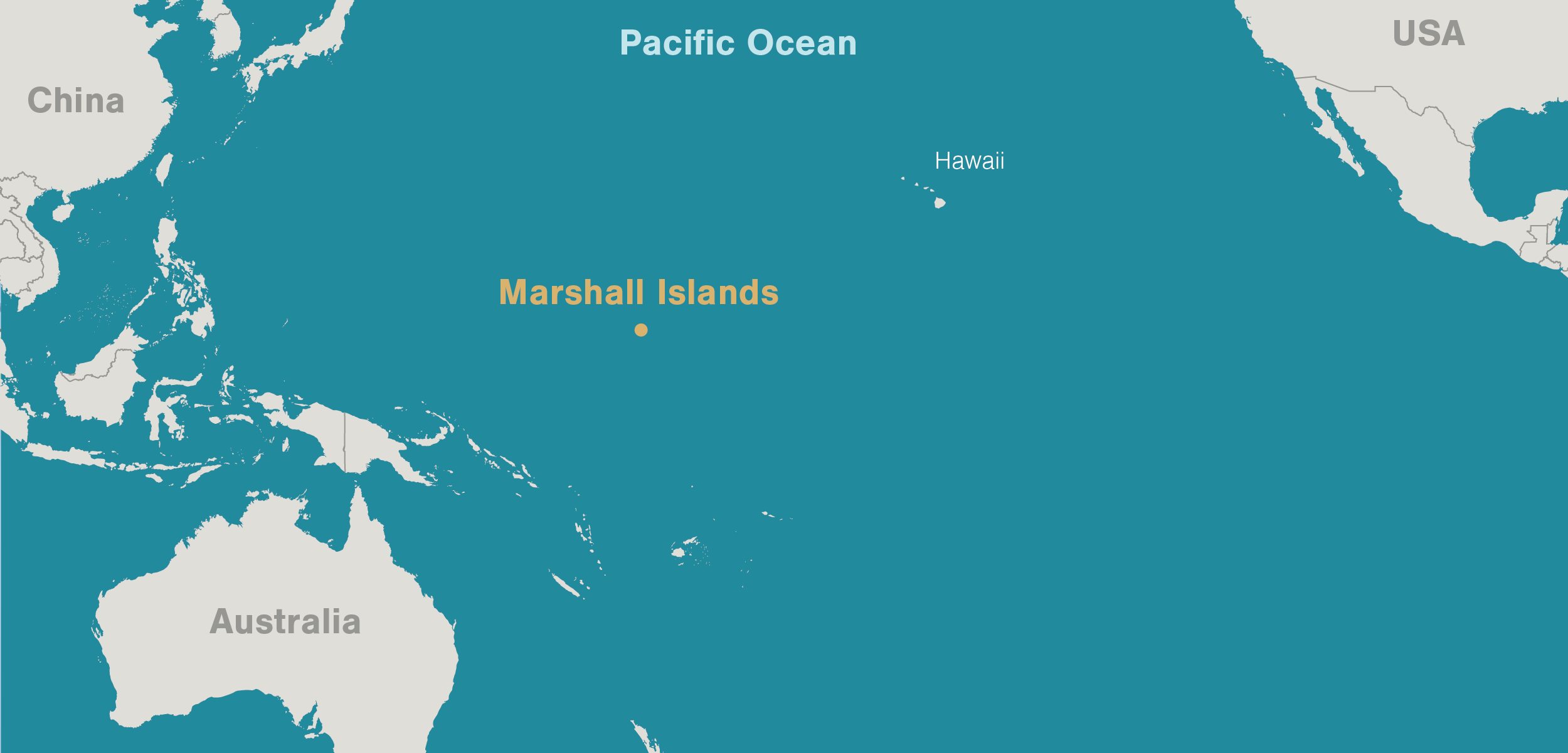 Map Of Marshall Islands And Hawaii