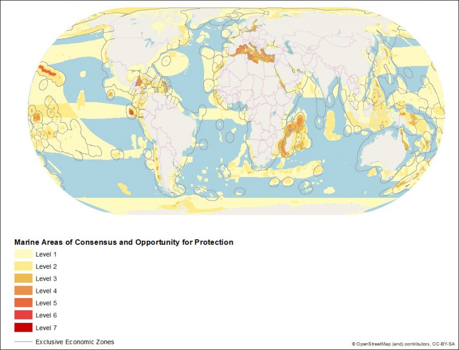 map of ocean conservation priorities