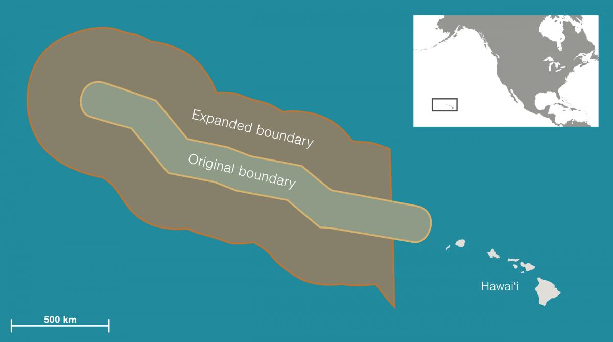 map of Papahānaumokuākea Marine National Monument