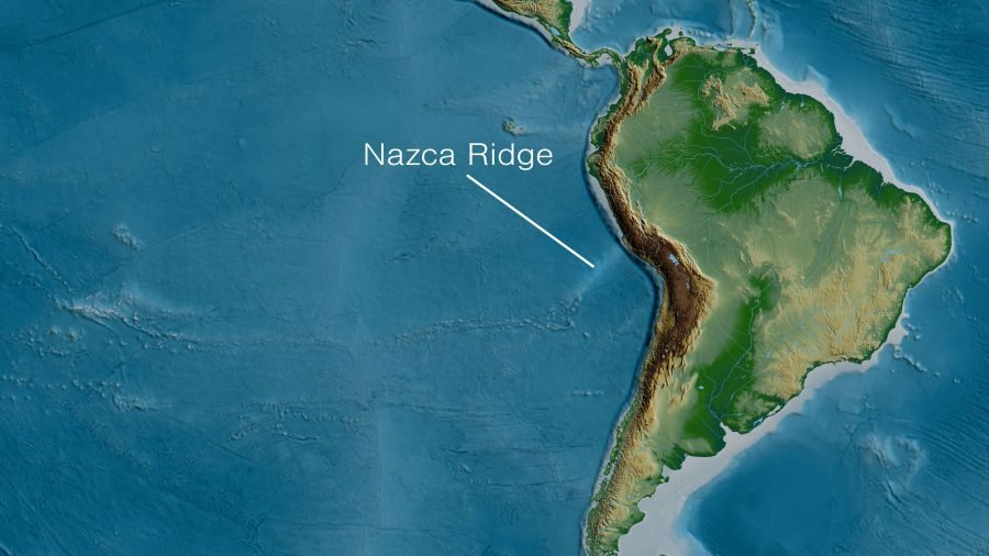 Mapf containing South America and the Nazca Ridge