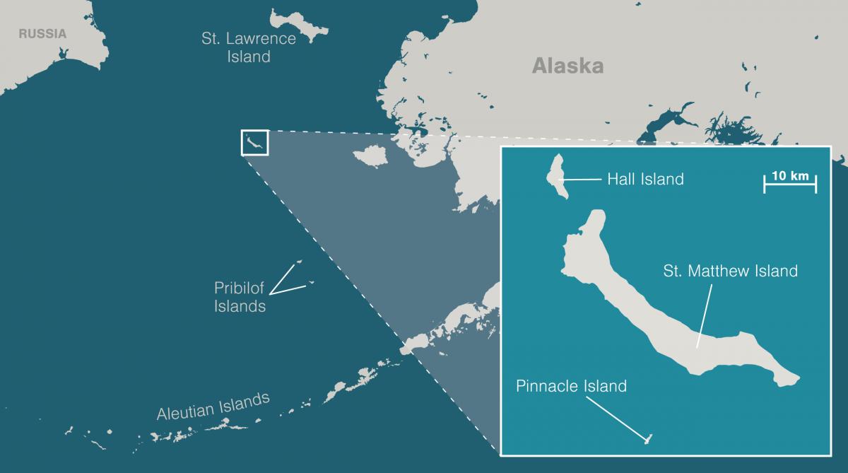 map of St. Matthew, Alaska
