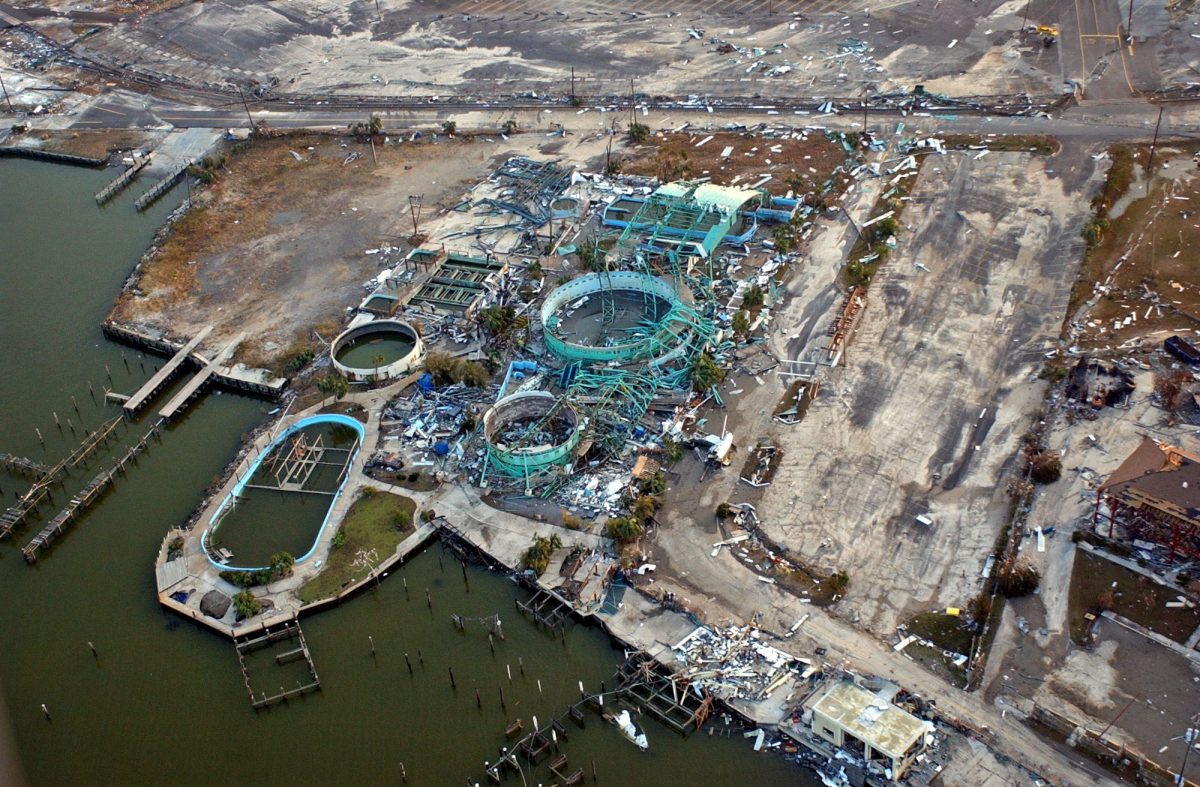 aerial photo of Marine Life after hurricane Katrina