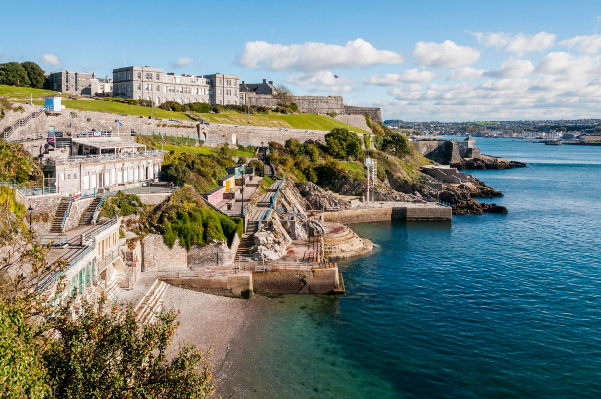 The Marine Biological Association on the coast at Plymouth