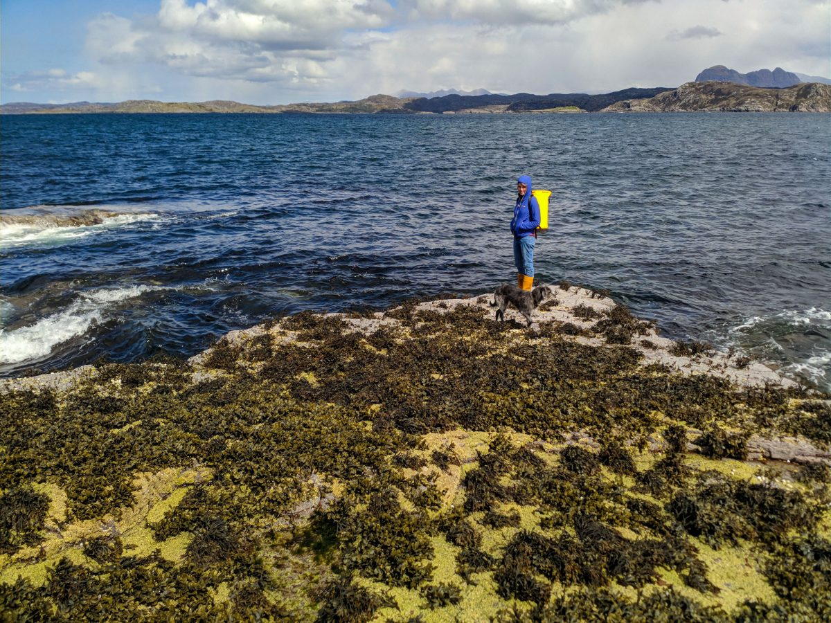 Ailsa McLellan stands on the shore of Garvie Bay