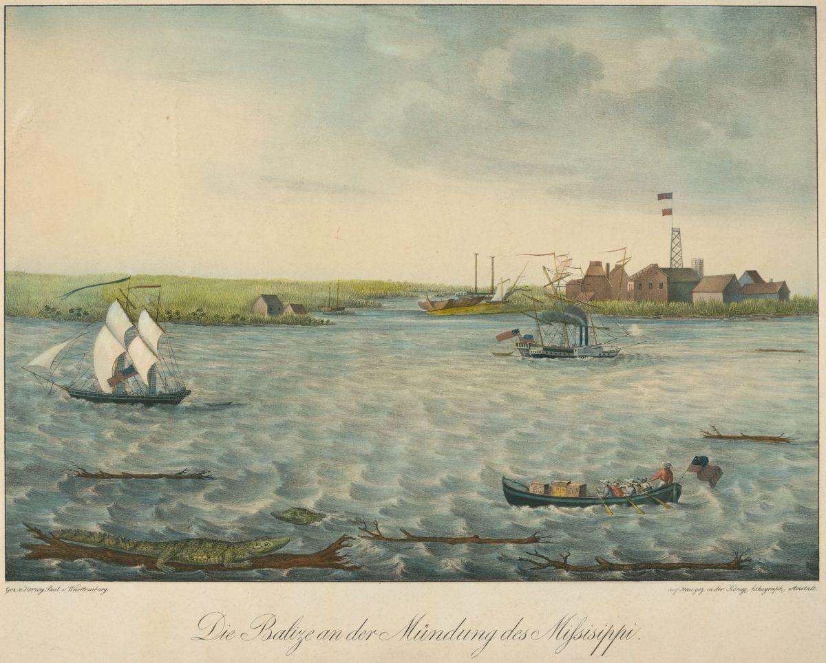 Die Balize an der Mündung des Missisippi (The Balize at the Mouth of the Mississippi), by Paul Wilhelm