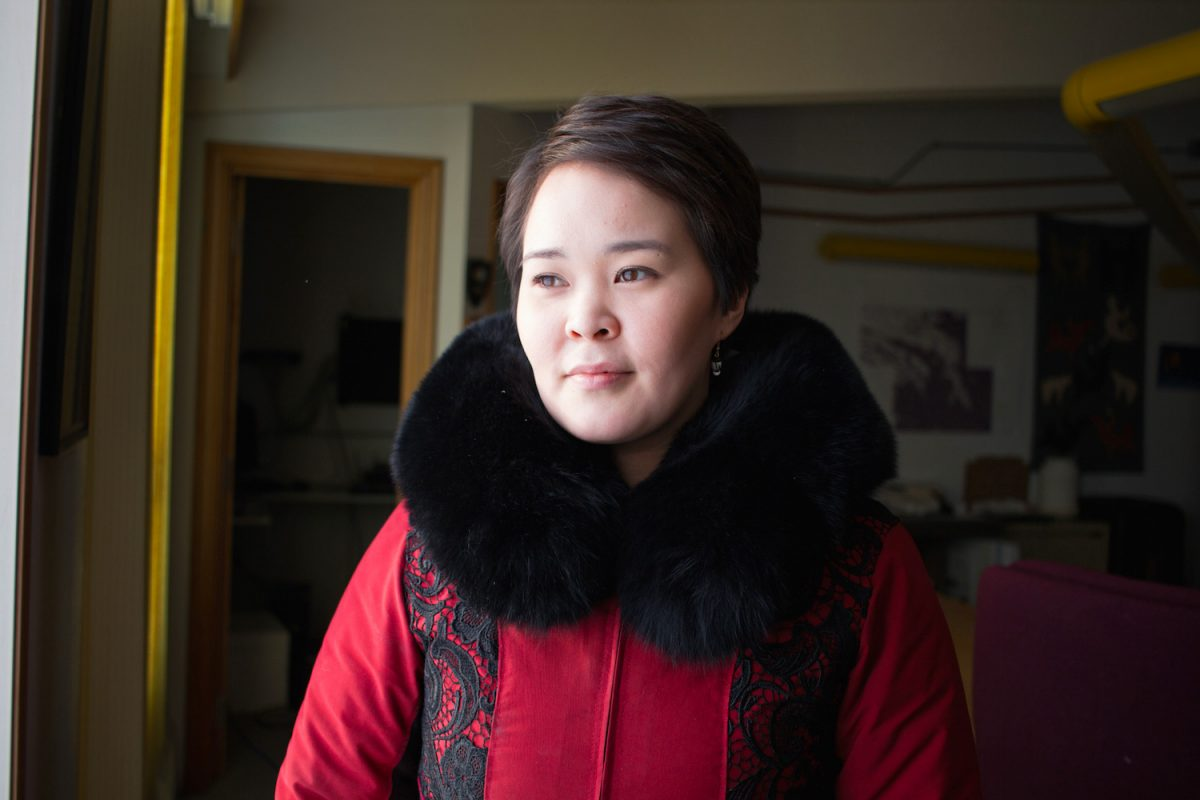 Molly Okalik in Whale Cove, Nunavut