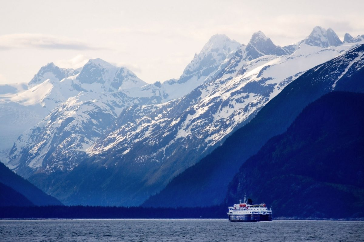 Ferry Kennicott in Lynn Canal near Haines Alaska Inside Passage