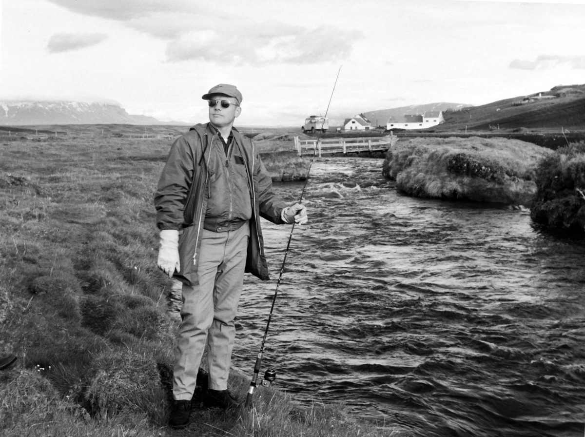 Neil Armstrong fishing in Iceland