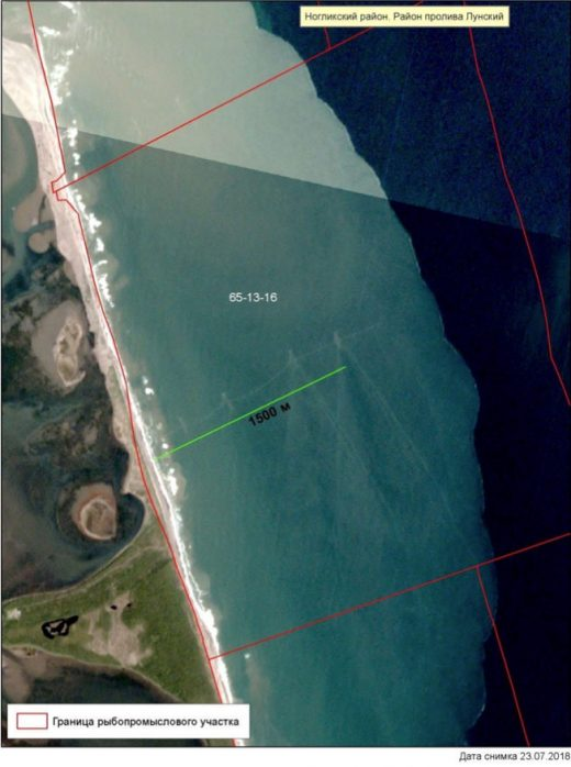satellite image mapping commercial fishing nets