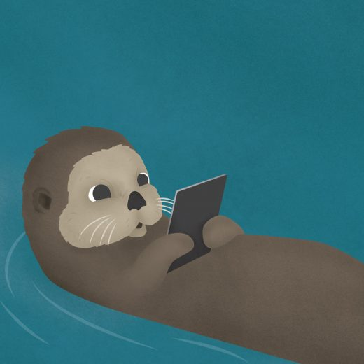 Otter with an ipad