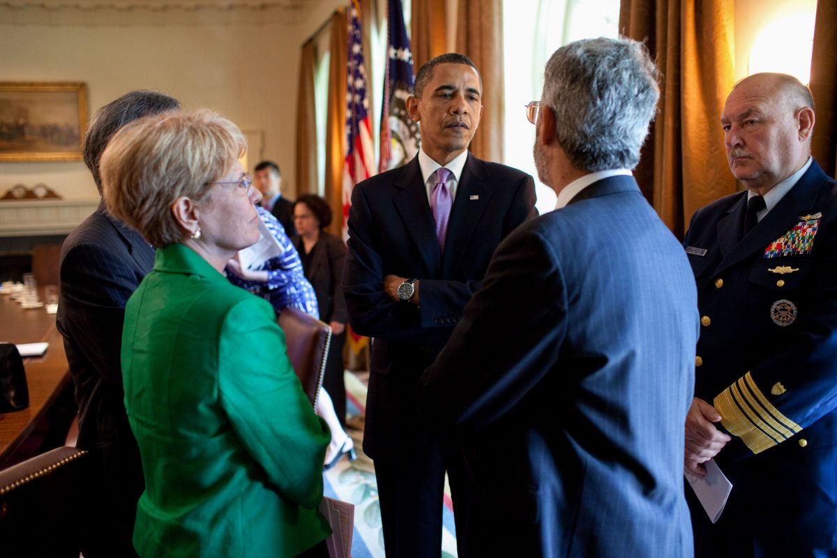 Jane Lubchenco and Barak Obama