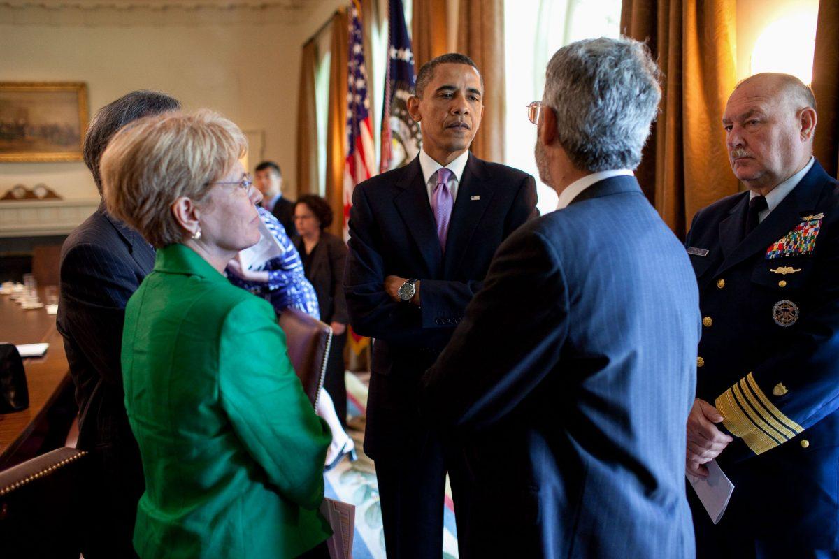 Jane Lubchenco and Barak Obama