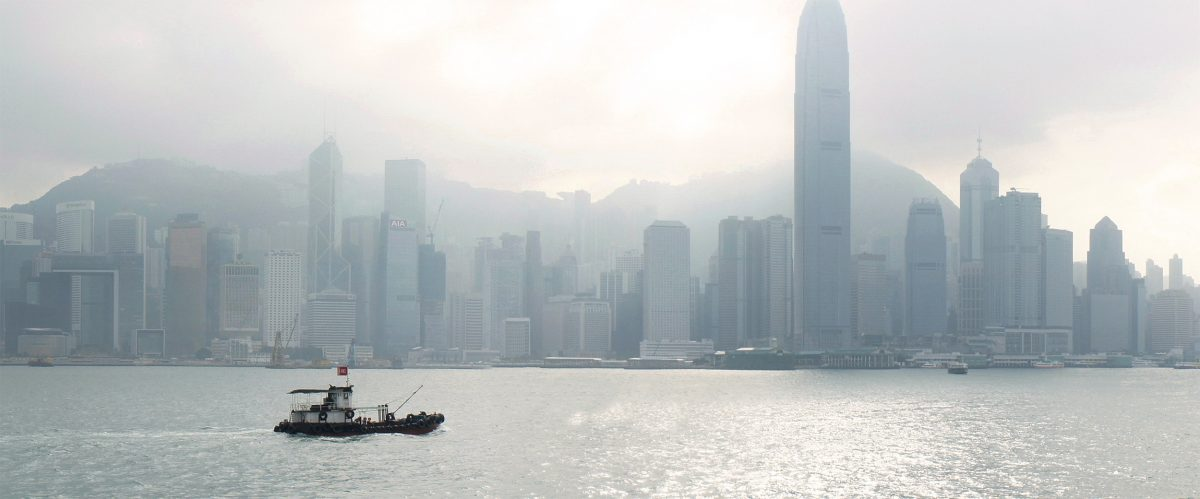 2012: Viewed from Kowloon Peninsula, Victoria Peak appears to have been eclipsed by the skyscrapers of modern-day Hong Kong. Photo by Mark Garrison