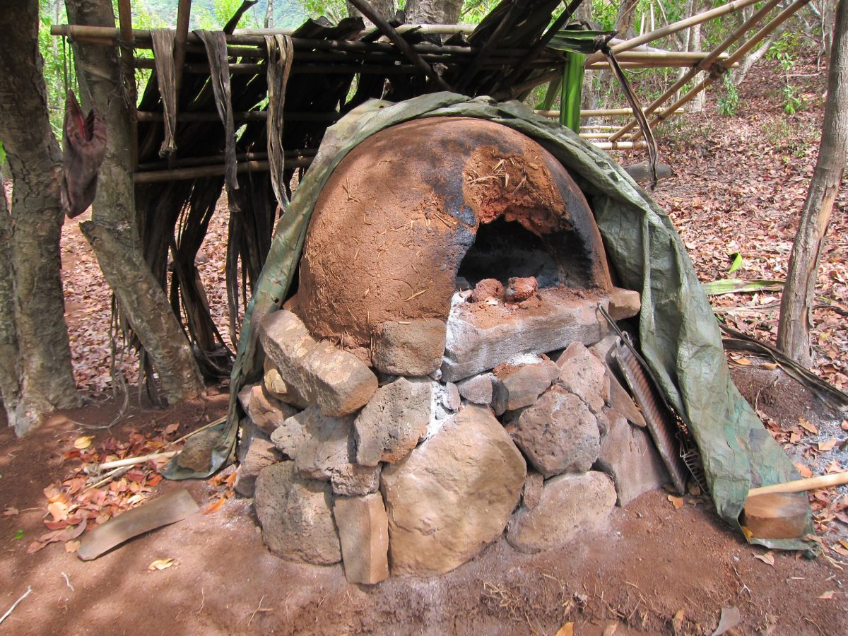 a pizza oven built by squatters in the Kalalau Valley