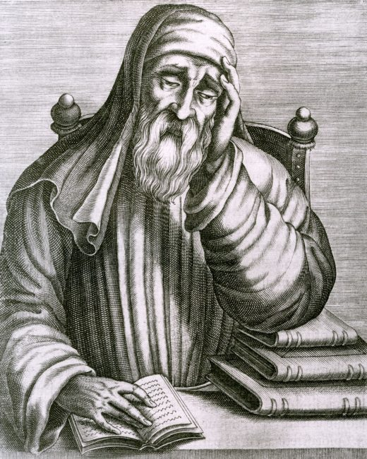 engraving of the Greek writher Plutarch