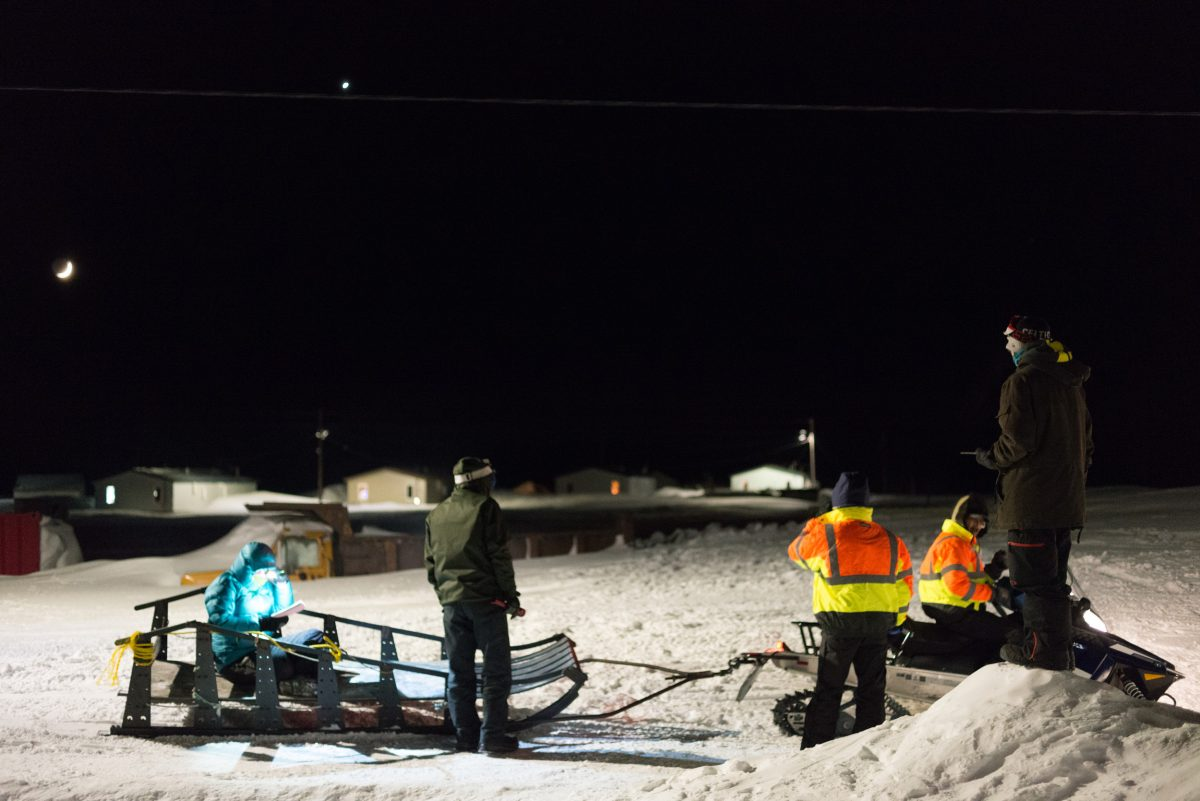 Wales, Alaska polar bear patrol prepares for a training scenario