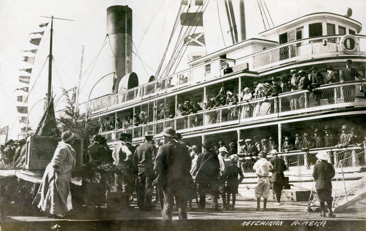 CPR Princess Royal at dock in Ketchikan circa 1915