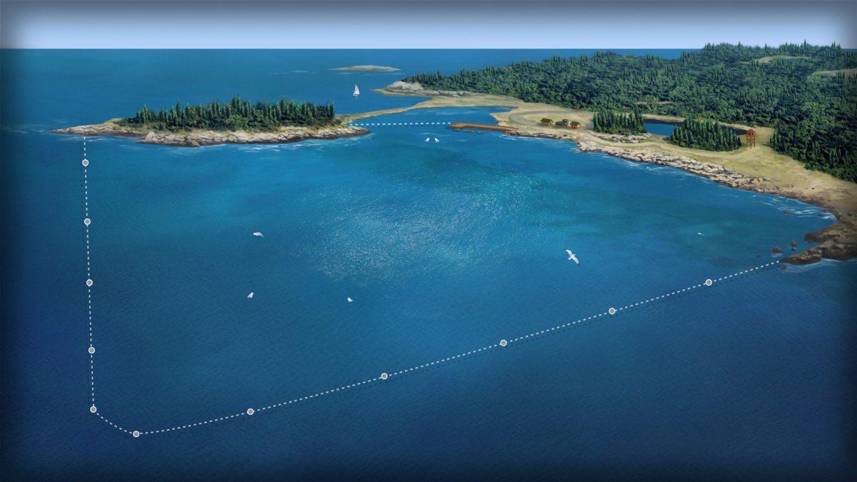 rendering of proposed enclosure for Port Hilford Bay