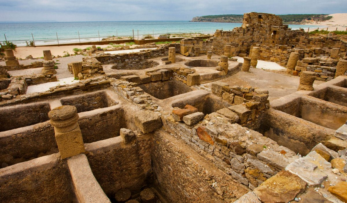 Ruins of a Roman fish factory in Spain