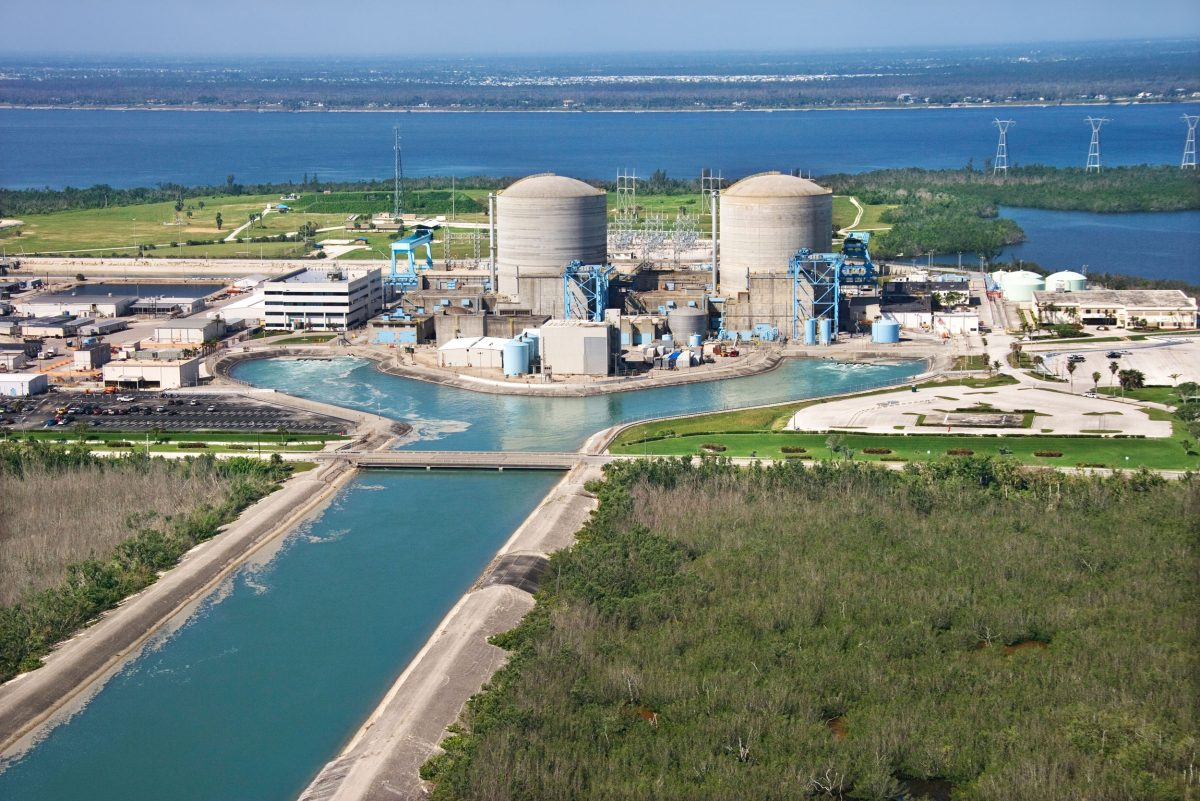 The St. Lucie nuclear power plant on Florida's Hutchinson Island