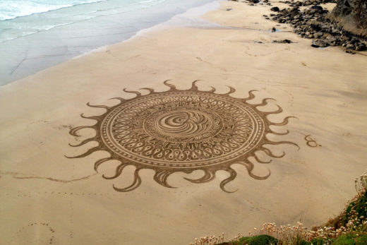 Sand art by Edmond Stanbury