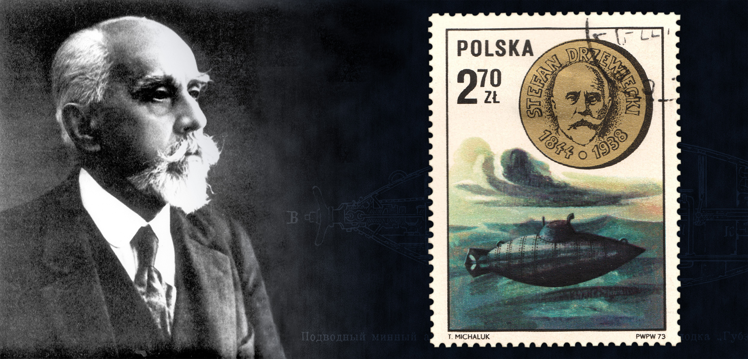 It ran on pedal-power, but Polish inventor, Stefan Drzewiecki, designed the first mass-produced submarine.