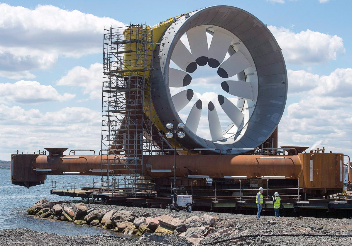 Nova Scotia has invested millions in the pursuit of tidal power; the energy will likely leave the province and be sold to the United States. Photo by Andrew Vaughan/CP Images