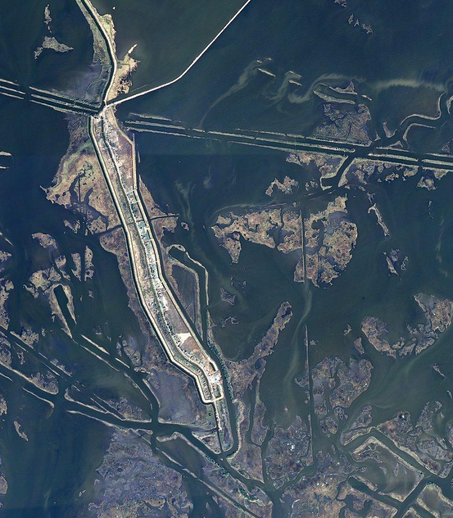 satellite image of Isle de Jen Charles, Louisiana