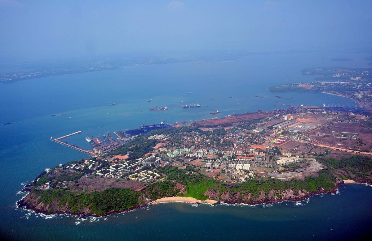 Mormugao Harbour, Aerial, Vasco da Gama, Goa, India