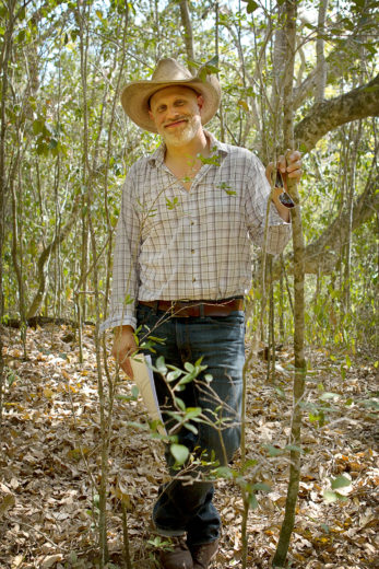 Archaeologist Victor Thompson in the field at Mound Key Archaeological State Park in coastal Florida. Photo by Zach Zorich